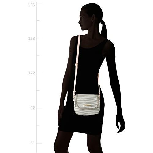 Caprese Eva Women's Sling Bag (Grey And White)