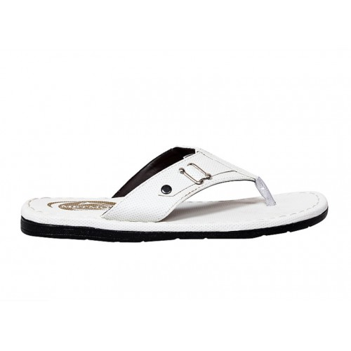 Butchi Men White Slippers