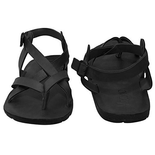Butchi Men's Black  Multistrap Sandal