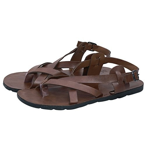 Butchi Men's Brown  Multistrap Sandal