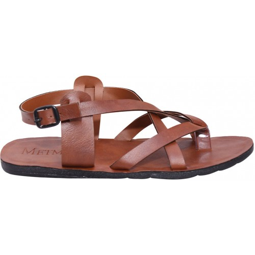 Butchi Men's Tan Multistrap Sandal