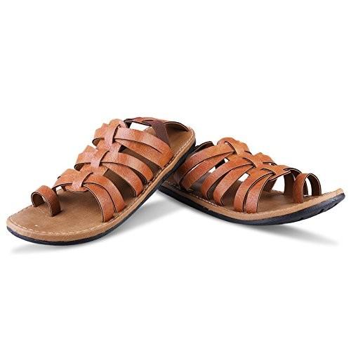 Butchi Men's Tan Synthetic Sandals