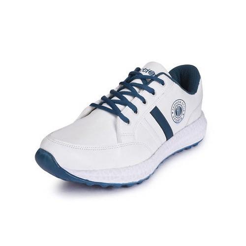 Action Shoes white Leatherette sport shoe