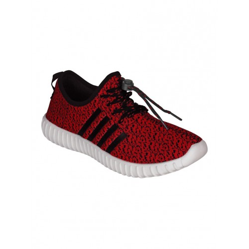 Aero red Fabric sport shoe