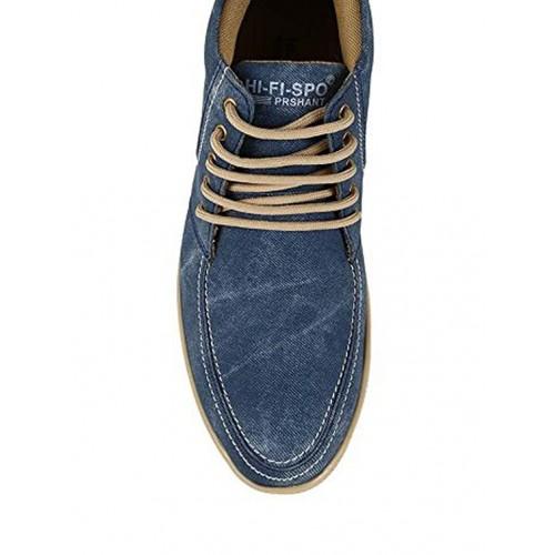Butchi Prime blue denim lace up shoes