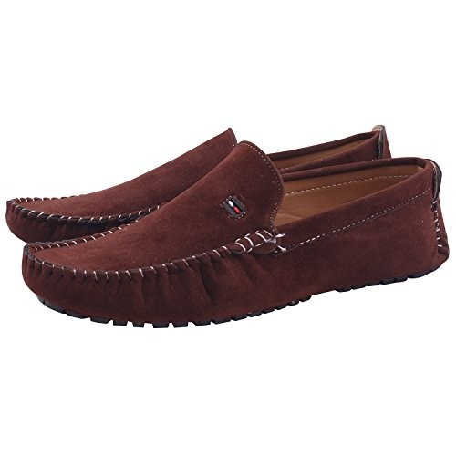 Butchi Brown stylish suede loafer shoes For Brown