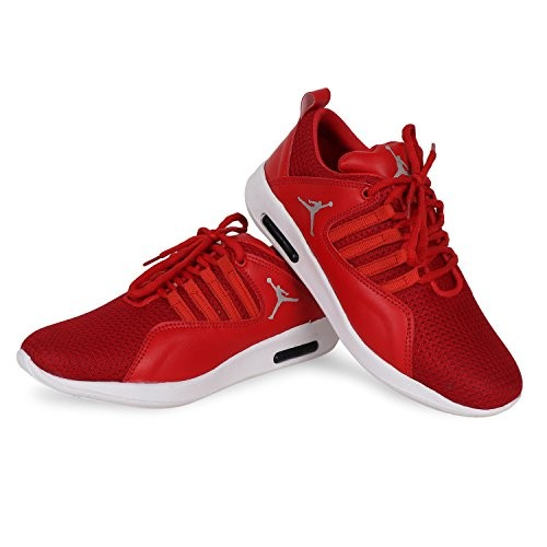 Butchi Mens Red Mesh Sport Shoes