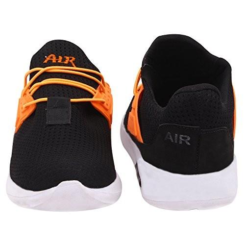 Butchi mens stylish mesh sport shoes For Black (SP201625-Black_7)