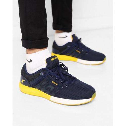 8f79ff6ed3b Buy Sparx Men SM-346 Navy Blue Yellow Sports Shoes online
