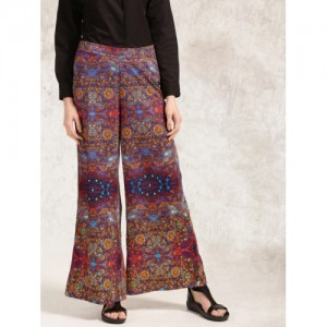 Anouk Multicoloured Printed Palazzo Trousers