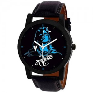 Generic The Shopoholic Blue Mahadev Analog Watch for Men