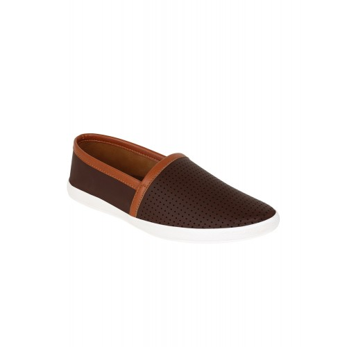 Guava brown leatherette casual slip on