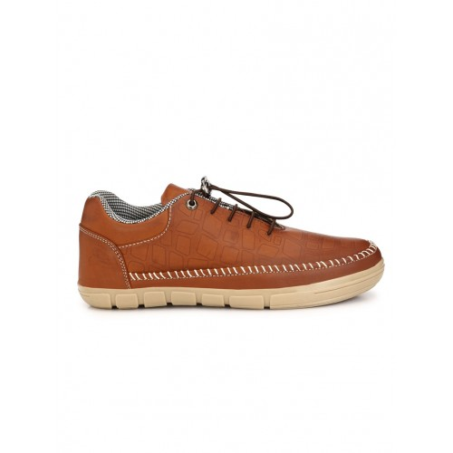Guava tan leatherette slip on shoes