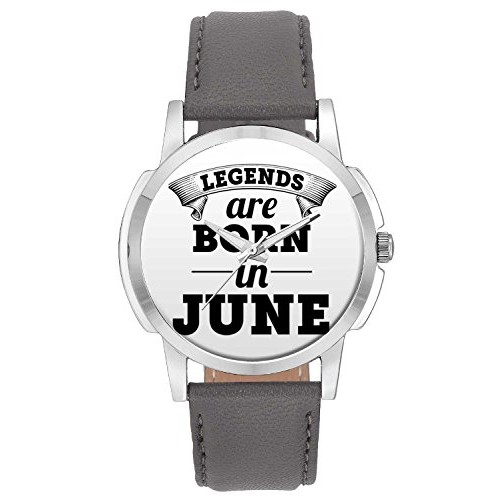 Wrist Watch for Men - BigOwl Legends Are Born In June Branded Fashion Watches for Boys - Best Casual Analog Leather Band Watch (Perfect Birthday Month Gift)