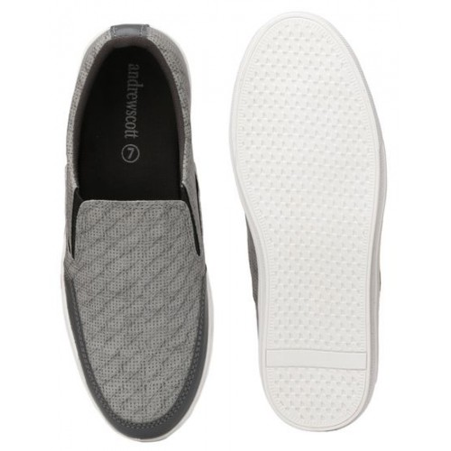 Andrew Scott grey Leatherette casual slipon