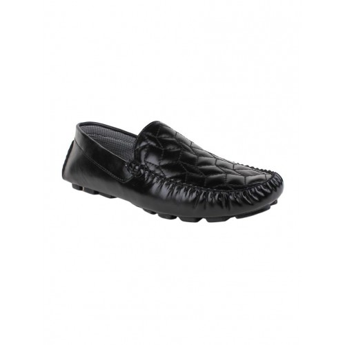 RIMONI black leatherette slip on loafer