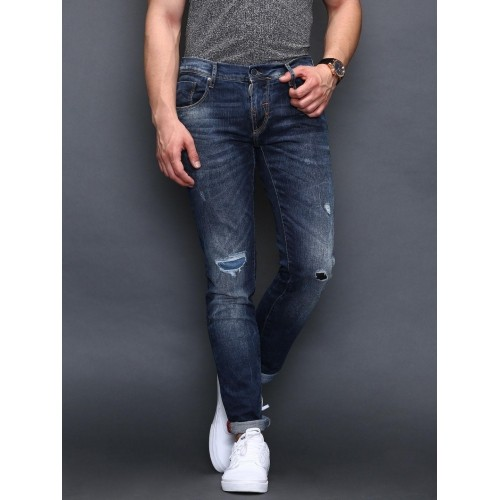 Buy Antony Morato Gold Blue Mick Super-Skinny Fit Distressed Jeans ... d883206625d