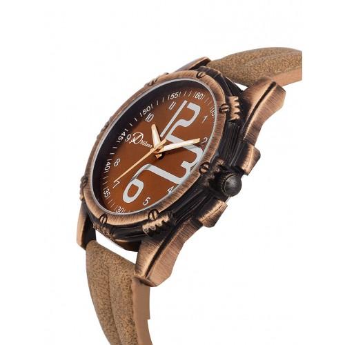 D'Milano Men Royal Copper Sports Analog Watch