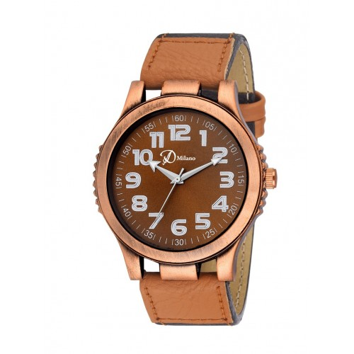 D'Milano Men Royal Copper Casual Analog Watch