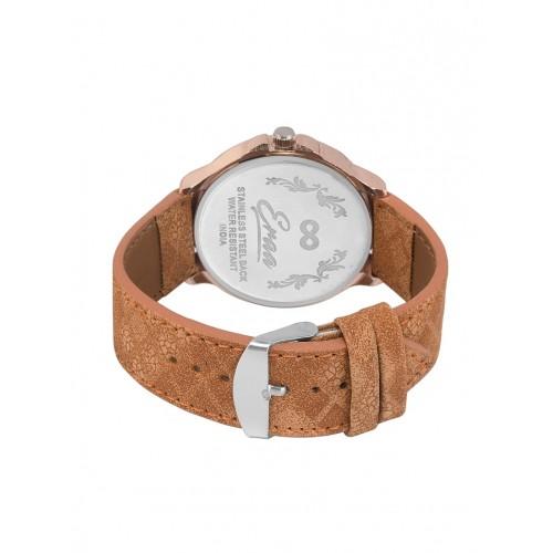 Eraa Men Chrono pattern White & Brown analog wrist watch