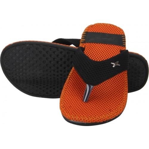 Quarks orange mesh toe separator slippers