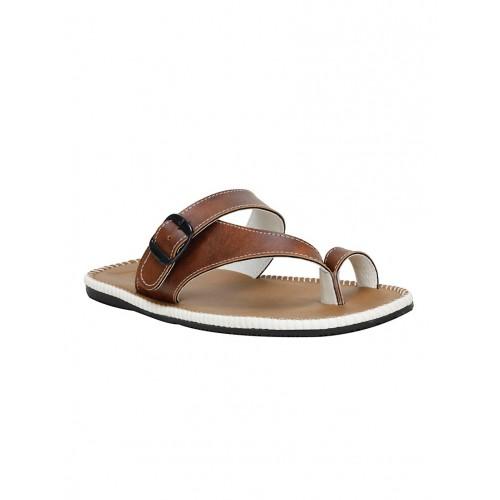 Buy Kraasa tan leatherette slip on