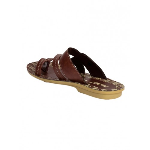 Action Shoes brown Leatherette slip on slipper