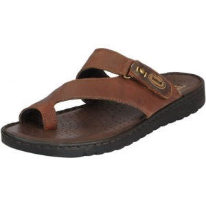 fd072ad33a48 Dr.Scholls Men s Brown Leather House and Daily Wear Toe Ring Slippers