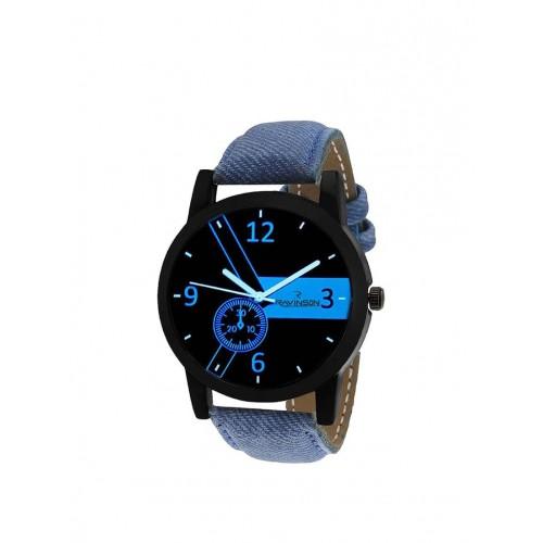 RAVINSON Ravinson R1521NL01A New Black Dial Denim Blue Strap latest Analog Casual Watch  - For Men