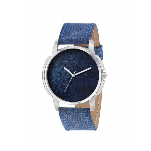 TIMEBRE Timebre round dial Denim Analog Watch