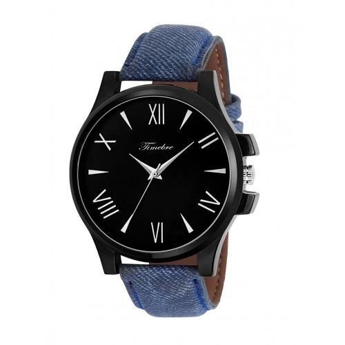 TIMEBRE Timebre Men Black Denim Casual Analog Watch