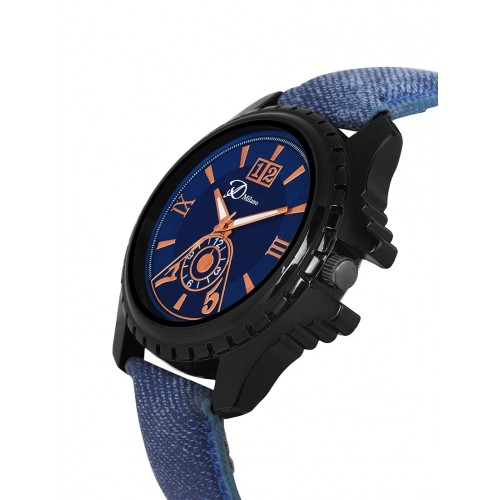 D'Milano Men Smutty Turquoise Casual Analog Watch