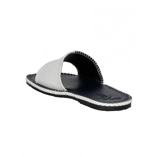 Kraasa blue leatherette slip on slipper
