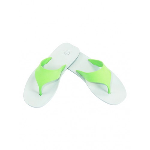 WCFC green rubber toe separator slippers