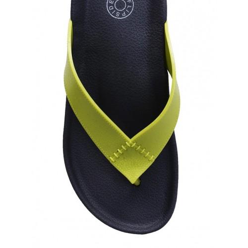Flipside green rubber toe separator flip flops