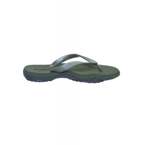 Flipside green Rubber toe separator flip flop