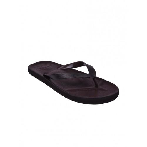 Flipside brown pu toe separator flip flops