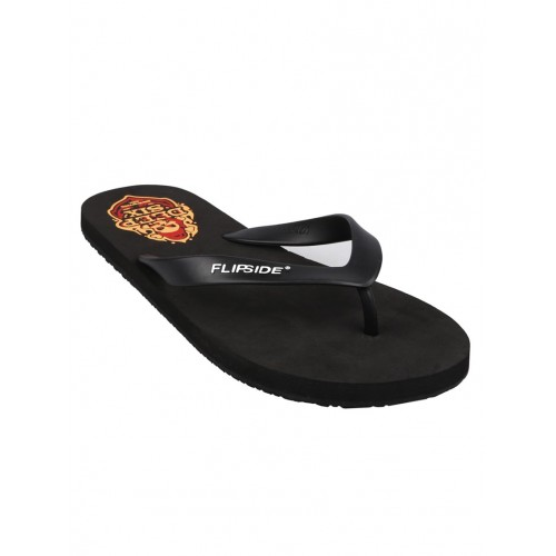Flipside black rubber toe separator flip flops