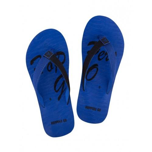 b11b7a2783b291 Buy HOPPERS GO blue fabric toe separator flip flops online