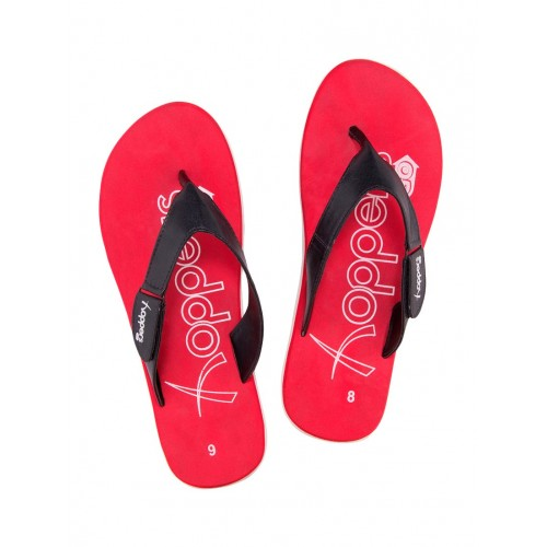 bc58fabb5581 Buy HOPPERS GO red leatherette toe separator flip flops online ...
