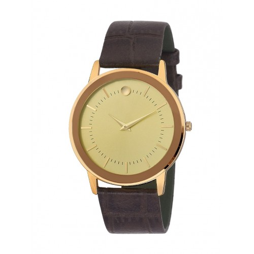 D'Milano Men Royal Slim Gold Analog Watch