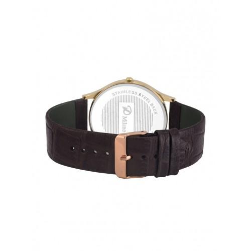 D'Milano Men Magnificent Gold Luxurious Slim Watch