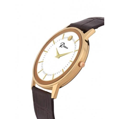 D'Milano Men Royal Slim Ivory Analog Watch