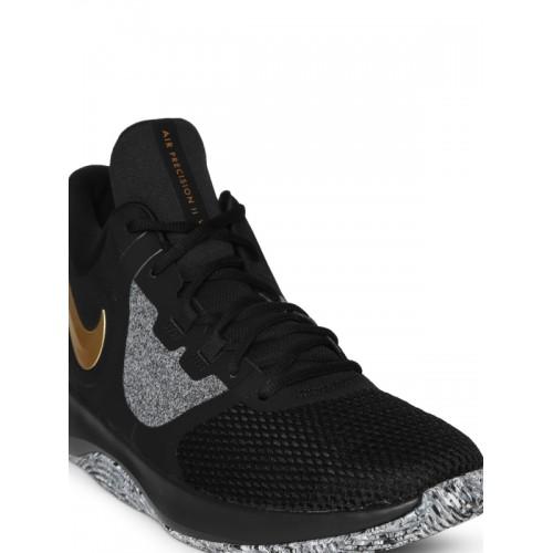 7bdc58ddfef5 Buy Nike Men Black Air Precision II Basketball Shoes online ...