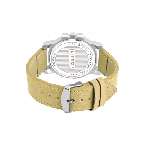 Laurels Commuter Day Date Yellow Dial Men's Wrist Watch- LMW-CM-161607