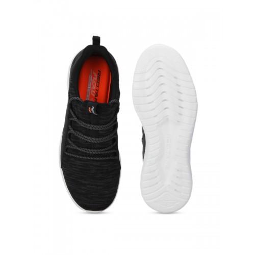 Red Tape Black Walking & Running Shoes