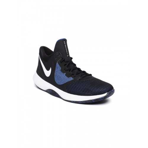 online store fb90b 32e7e ... Nike Men Black   Blue Air Precision II Basketball Shoes ...