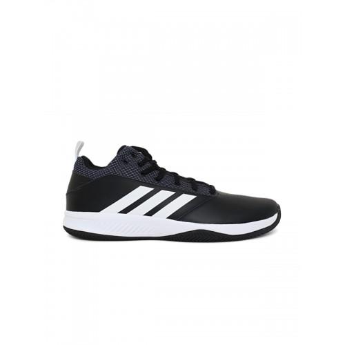 Buy Adidas Men Black ILATION 2.0 4E Leather Basketball Shoes online ... c041212a2