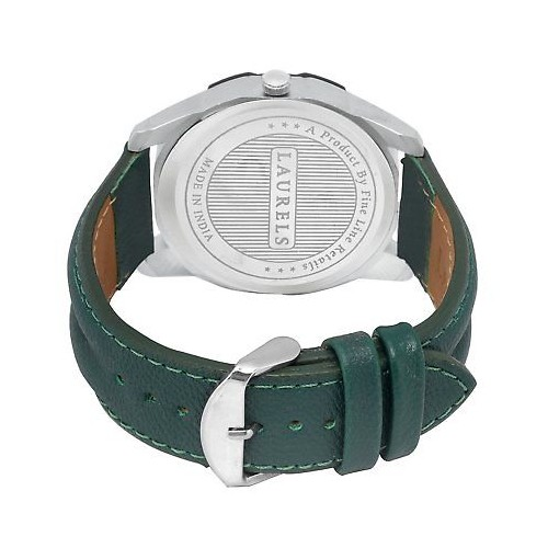 Laurels Green Color Day & Date Analog Men's Watch With Strap: LWM-DXTR-II-040407