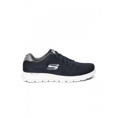 98c2ae1b1048 Buy Skechers Men Navy Blue Vim Evasive Action II Walking Shoes ...